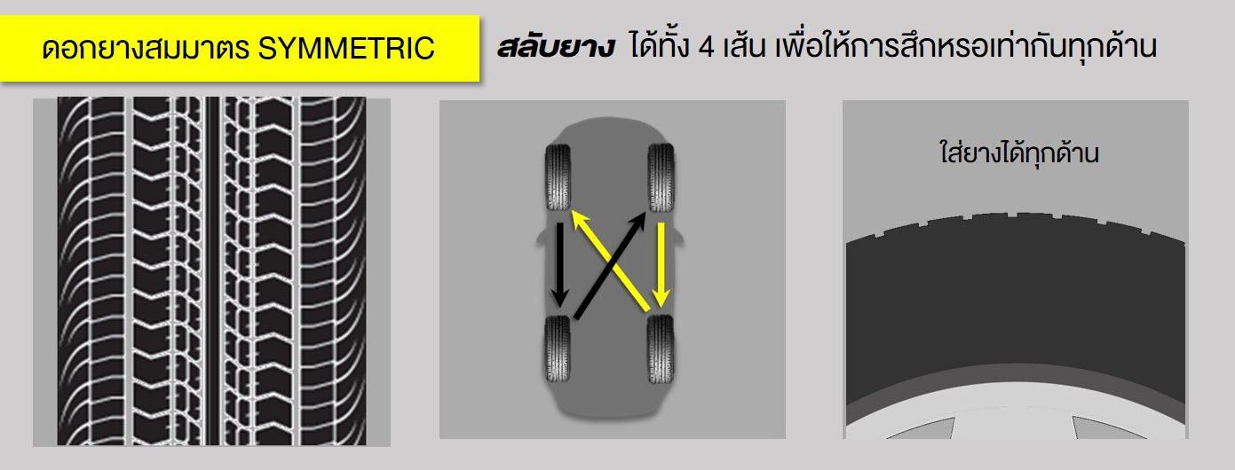 ดอกยางสมมาตร symmetric tire