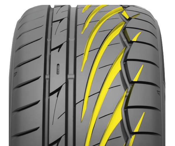 Asymmetric Tire Tread