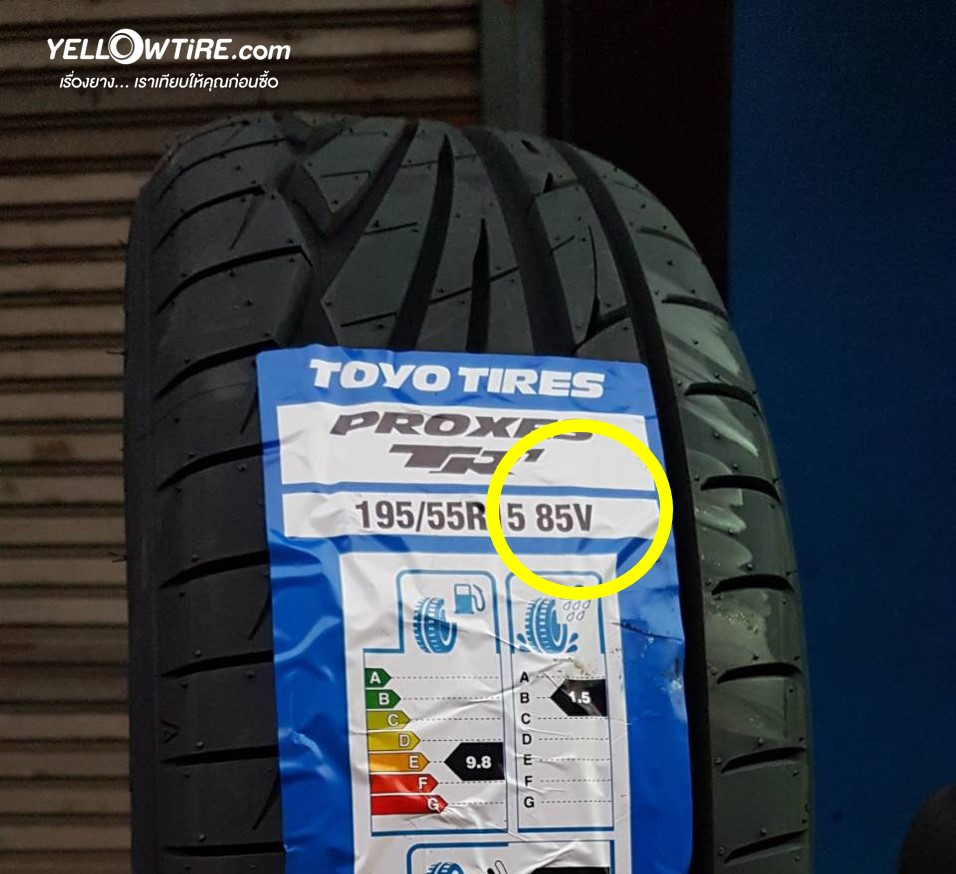 Speed rating Tire